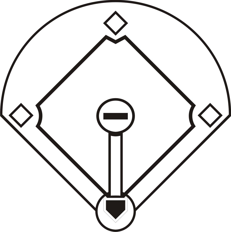 Baseball Field Diagram Printable Clipart