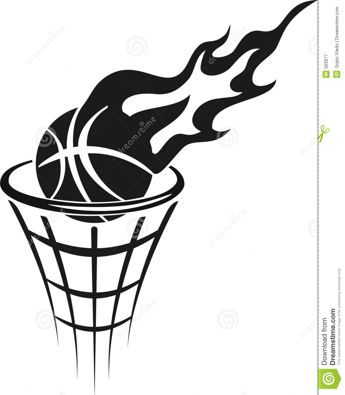 Basketball And Hoop Clipart