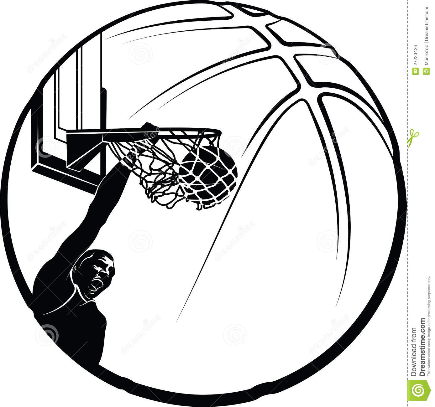Basketball Player Clipart Black And White