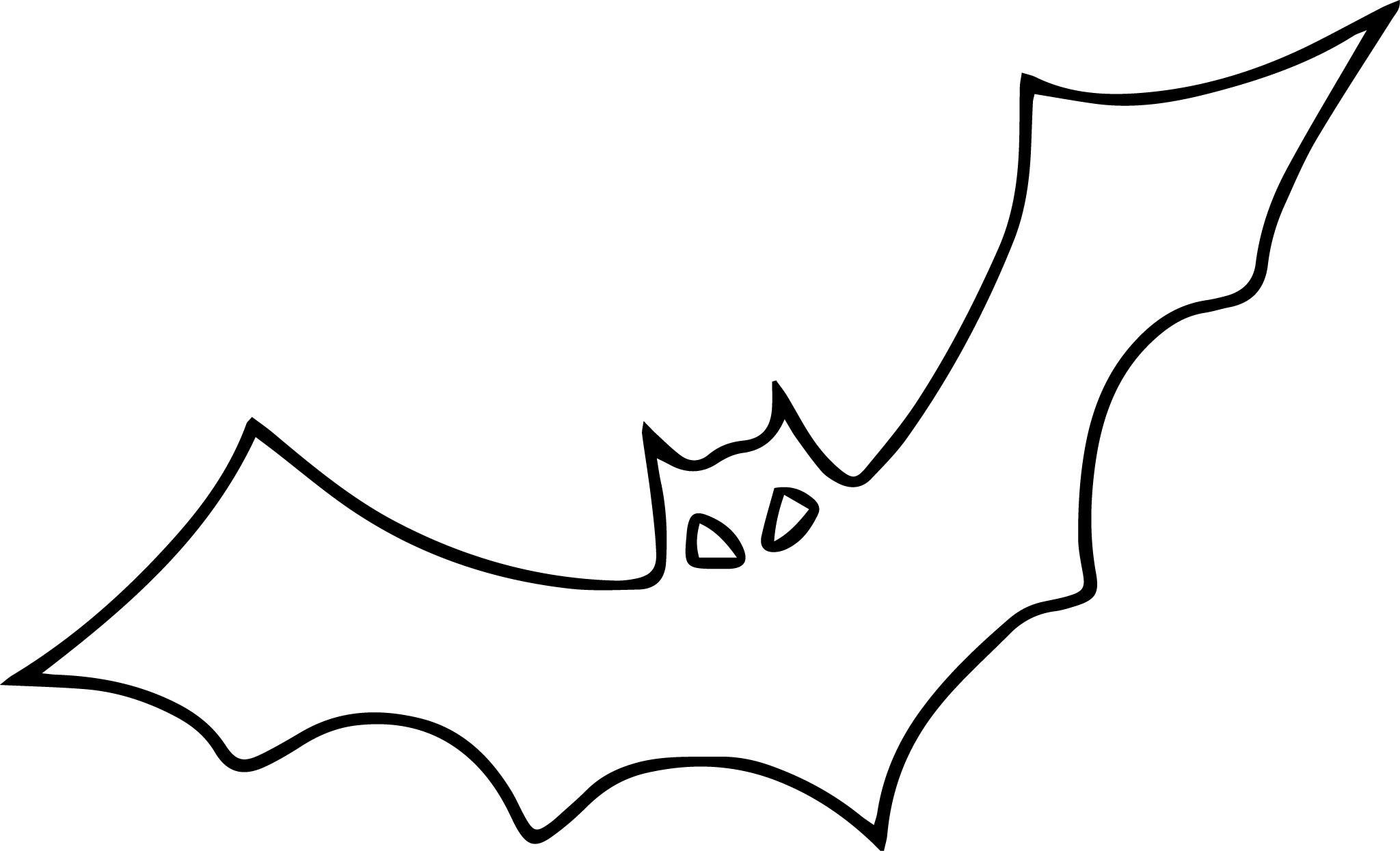 Bat Clipart Outline