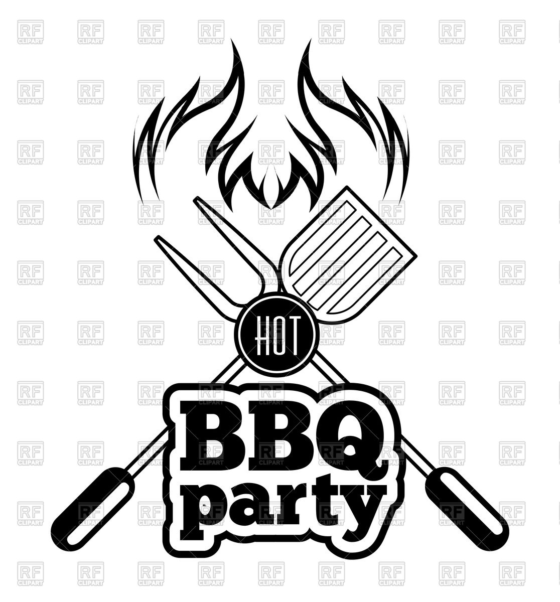 Bbq Clipart Black And White