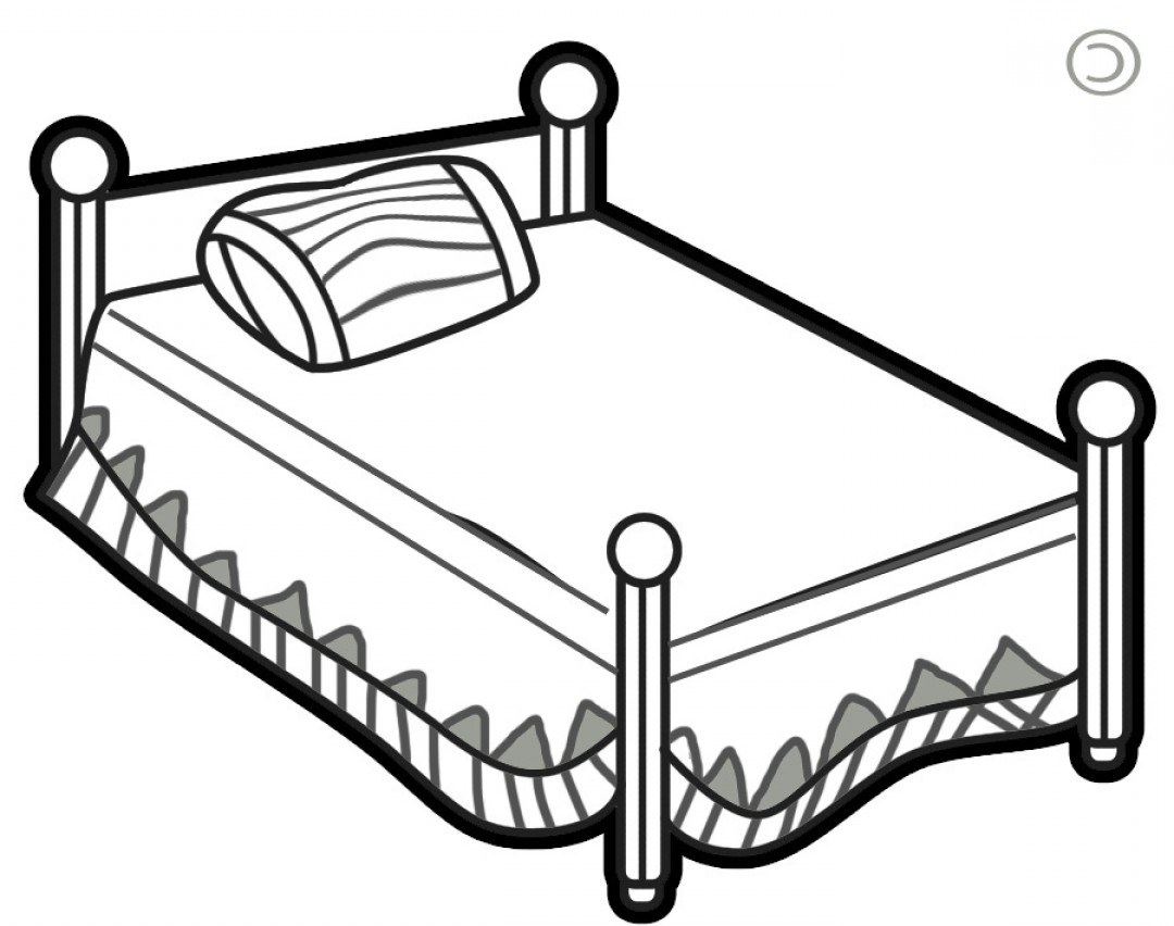 Bed Black And White Clipart