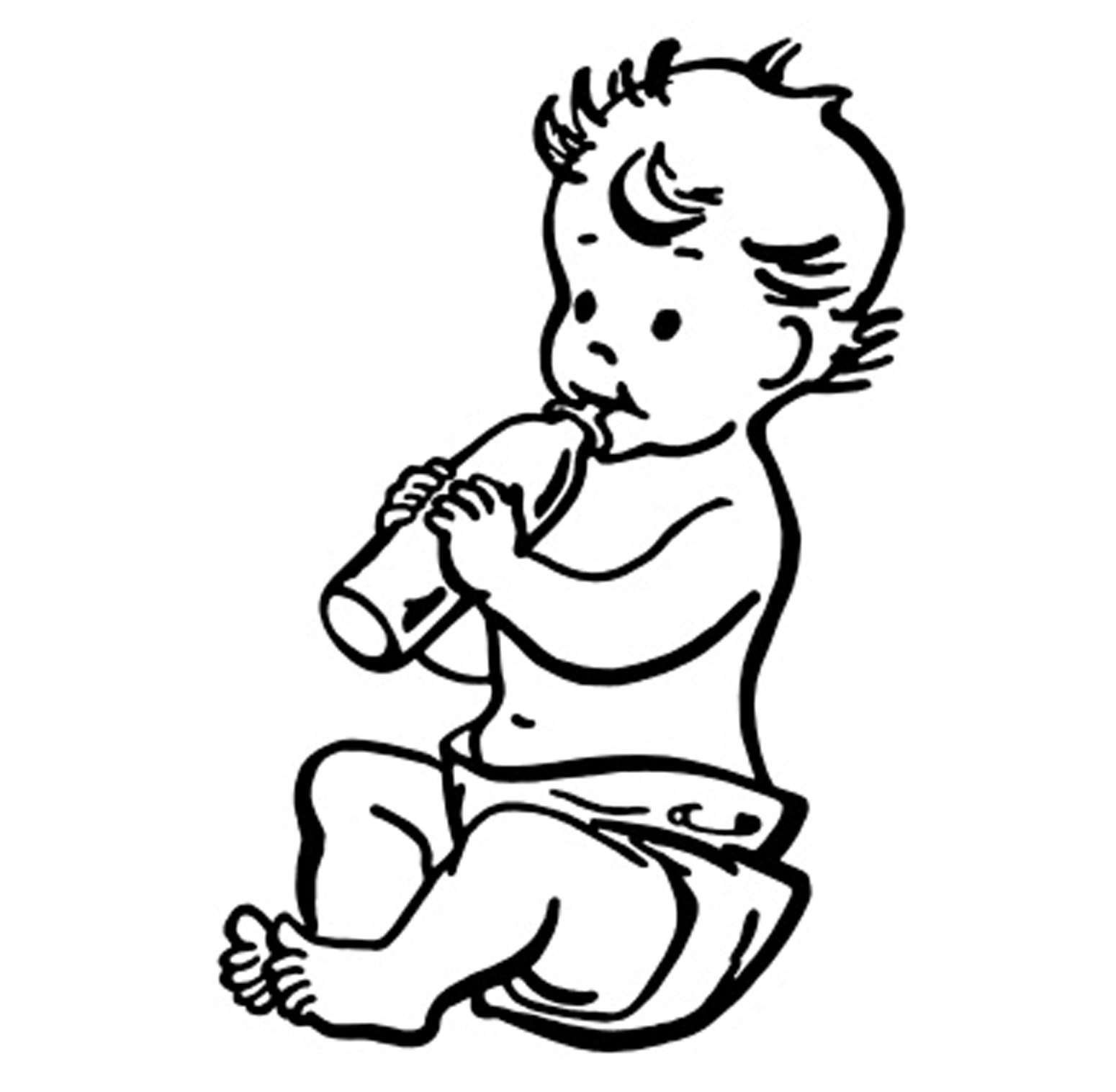 Black And White Baby Clipart