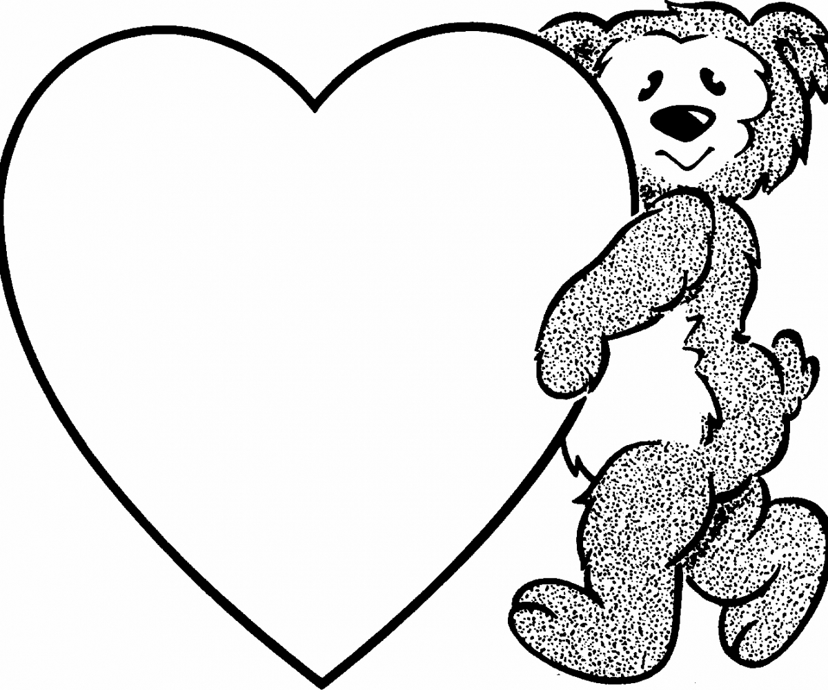 Black And White Clipart Love