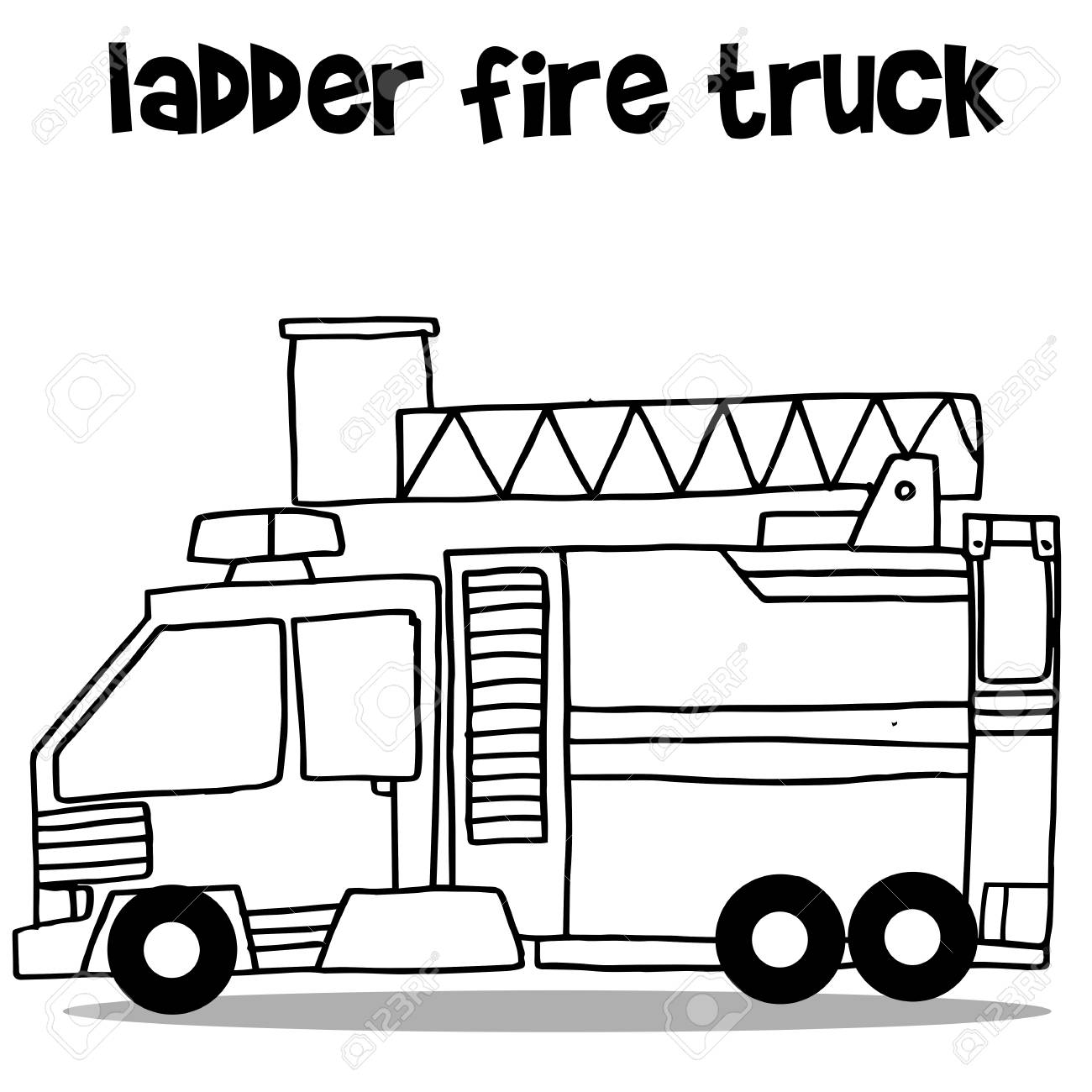 Black And White Clipart Truck