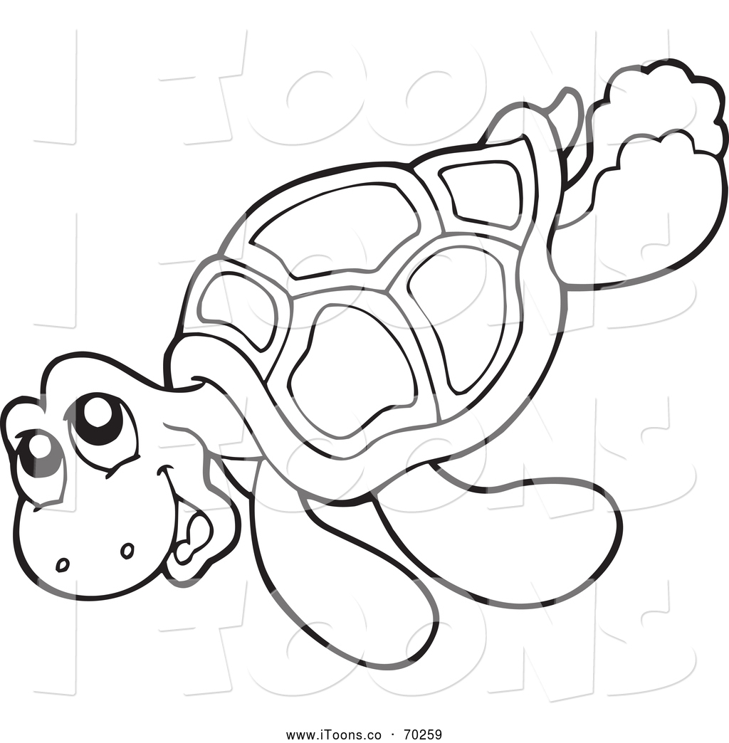 Black And White Clipart Turtle