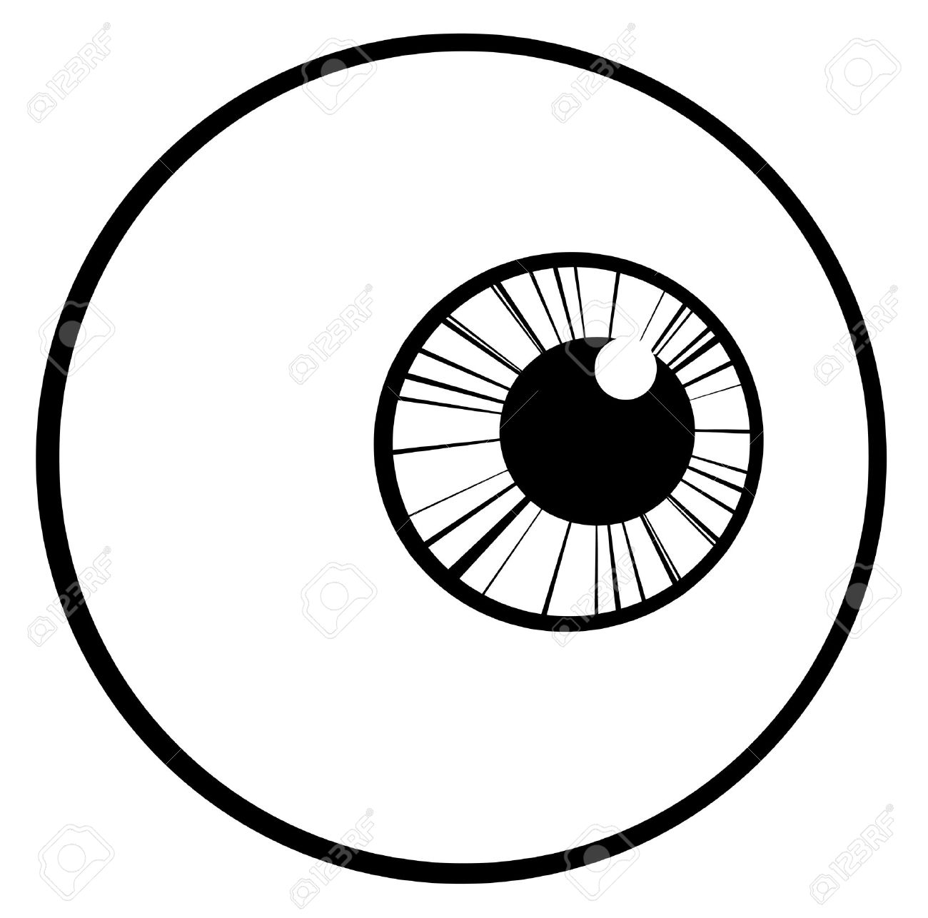 Black And White Eyeball