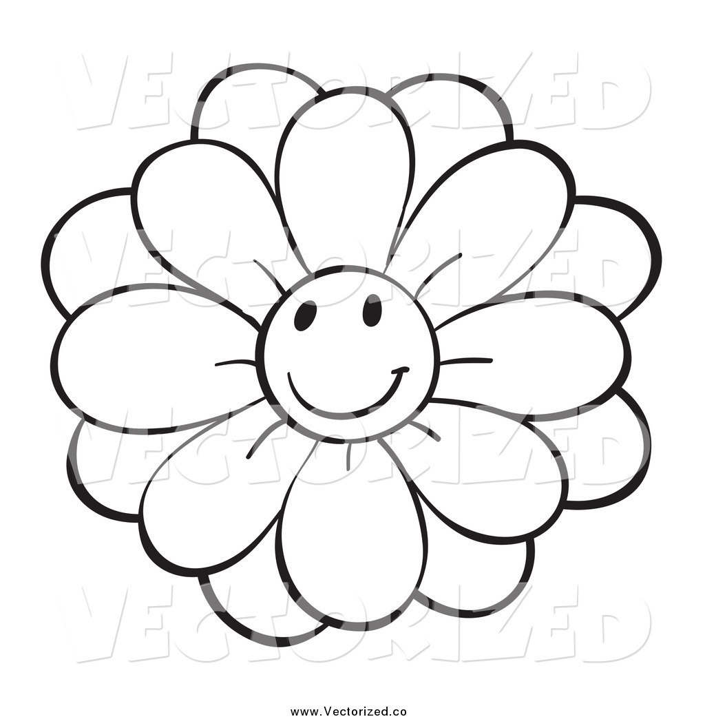 Black And White Flower Images Clipart