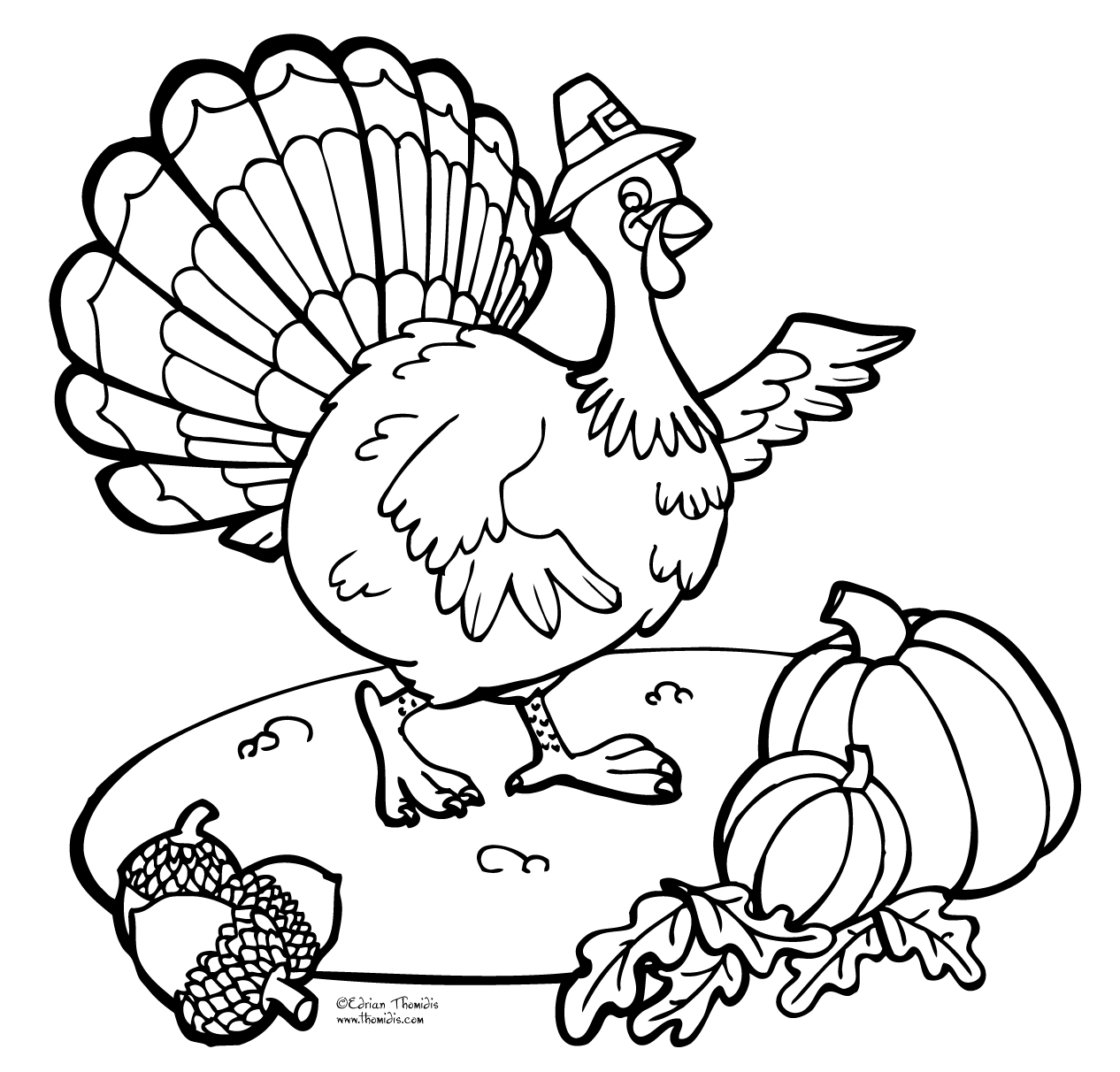 Black And White Thanksgiving Clipart