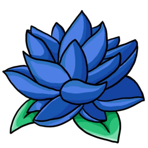 Blue Flower Border Clipart   Free download on ClipArtMag