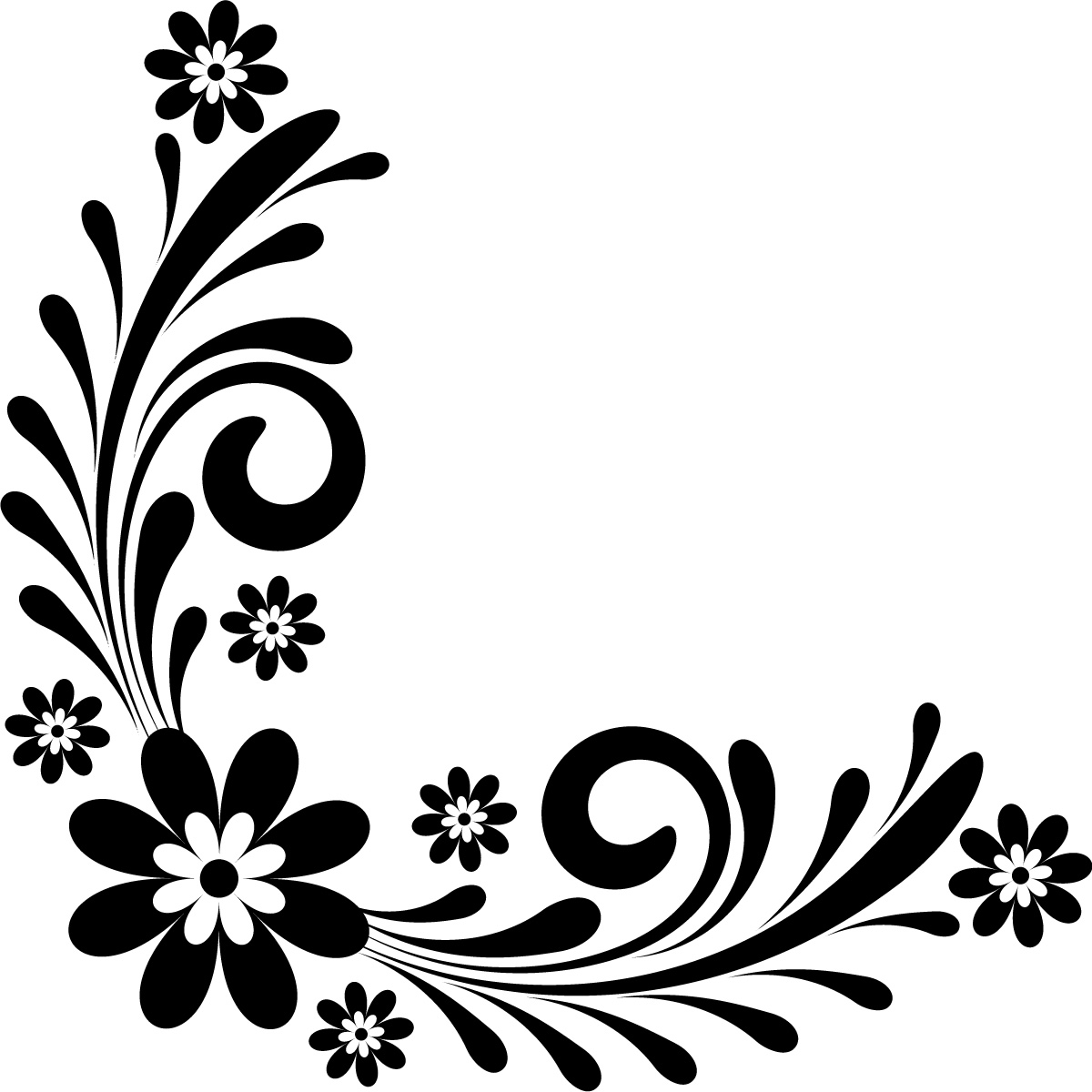 Border Design Black And White Clipart