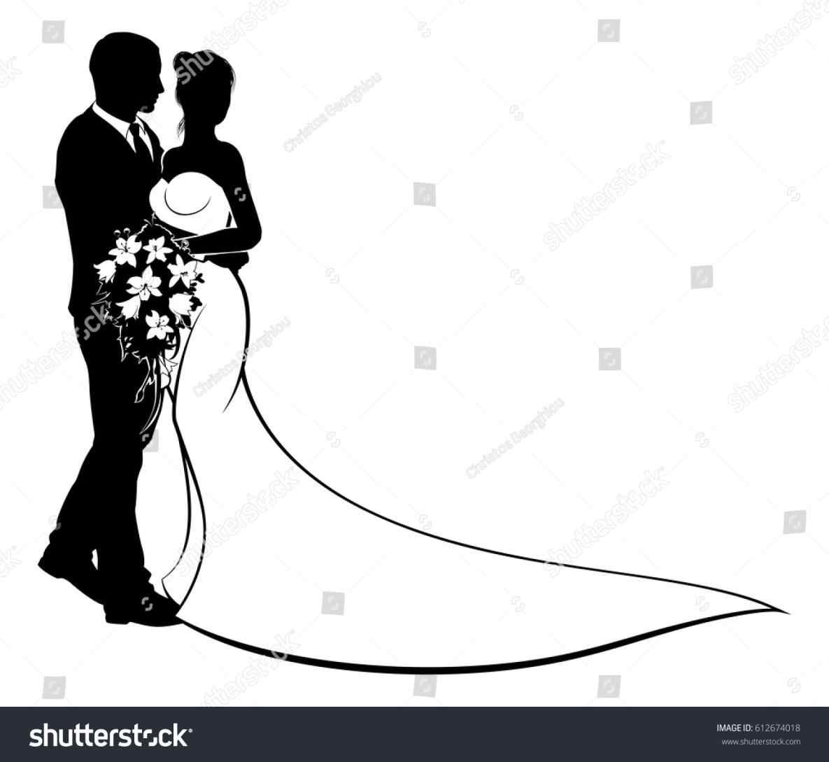 Bride Groom Clipart