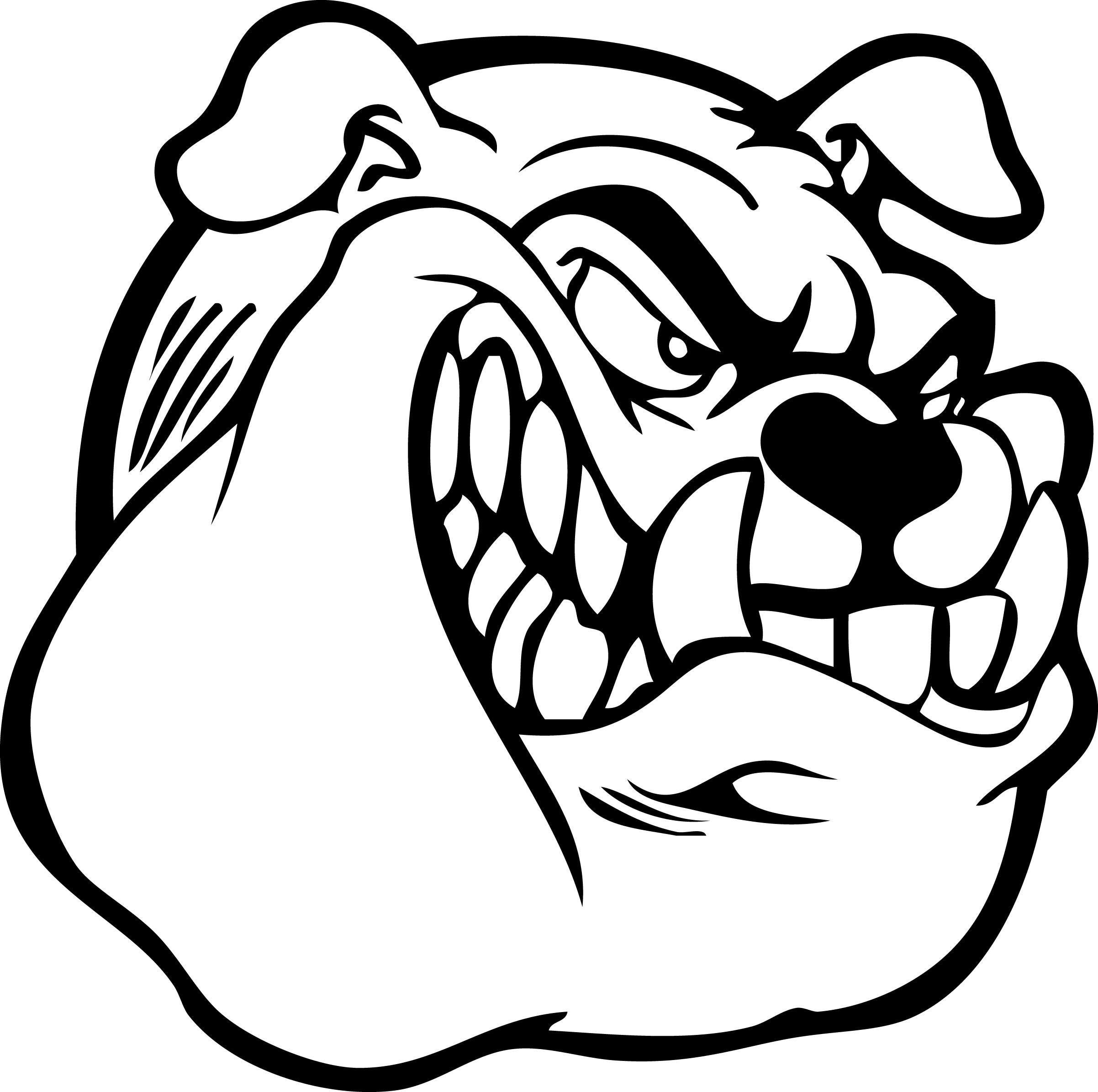Bulldog Mascots Clipart