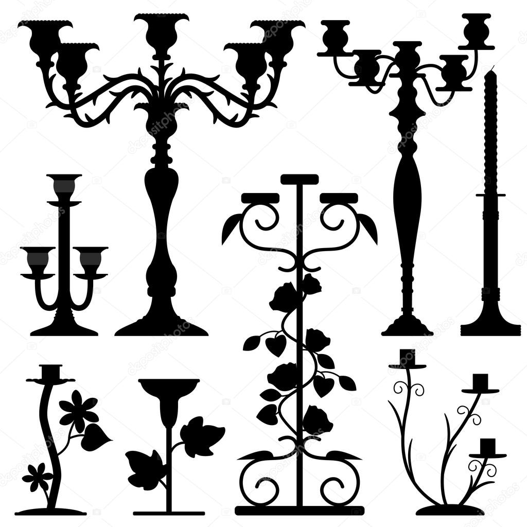 Collection Of Candlestick Clipart