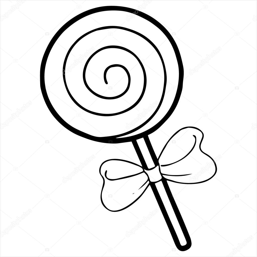 Candy Clipart Black And White