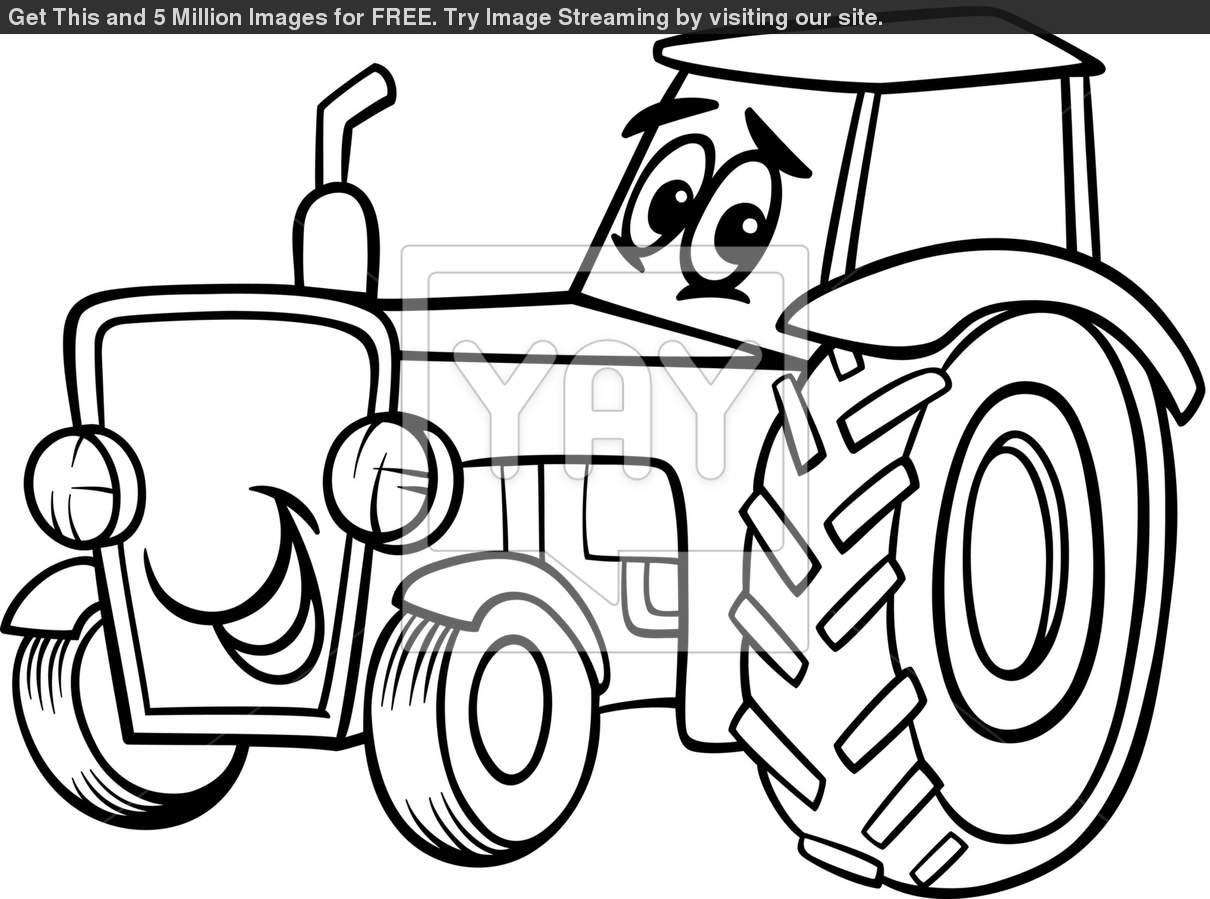 Cartoon John Deere Tractor Clipart