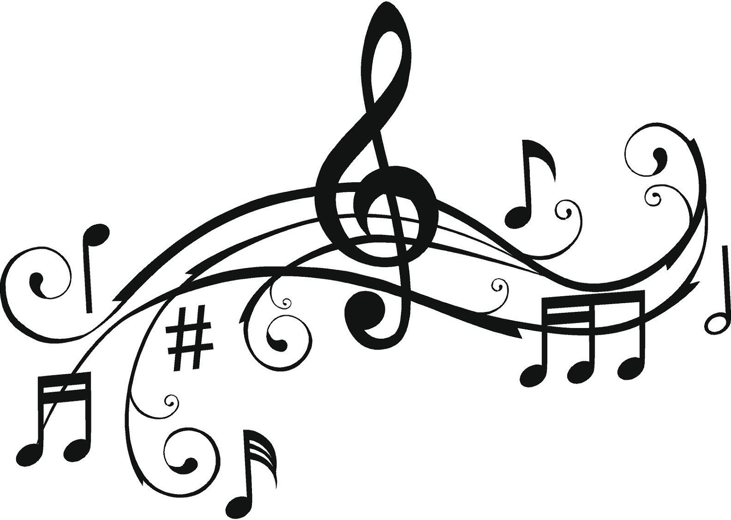 Cartoon Music Notes Clipart Free download on ClipArtMag