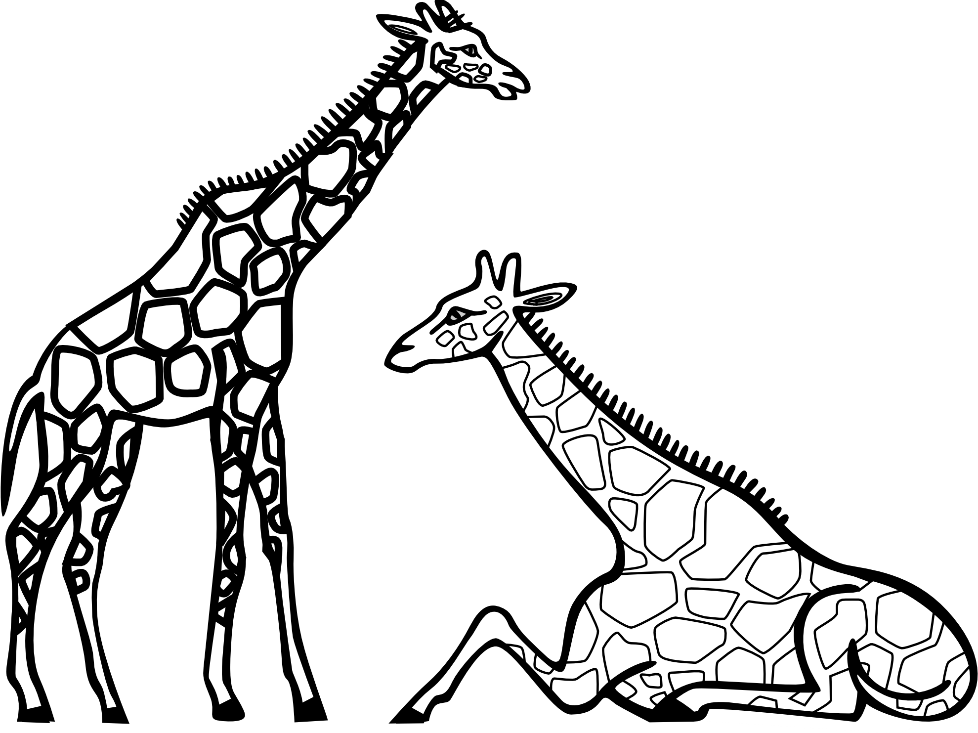 Cheetah Clipart Black And White