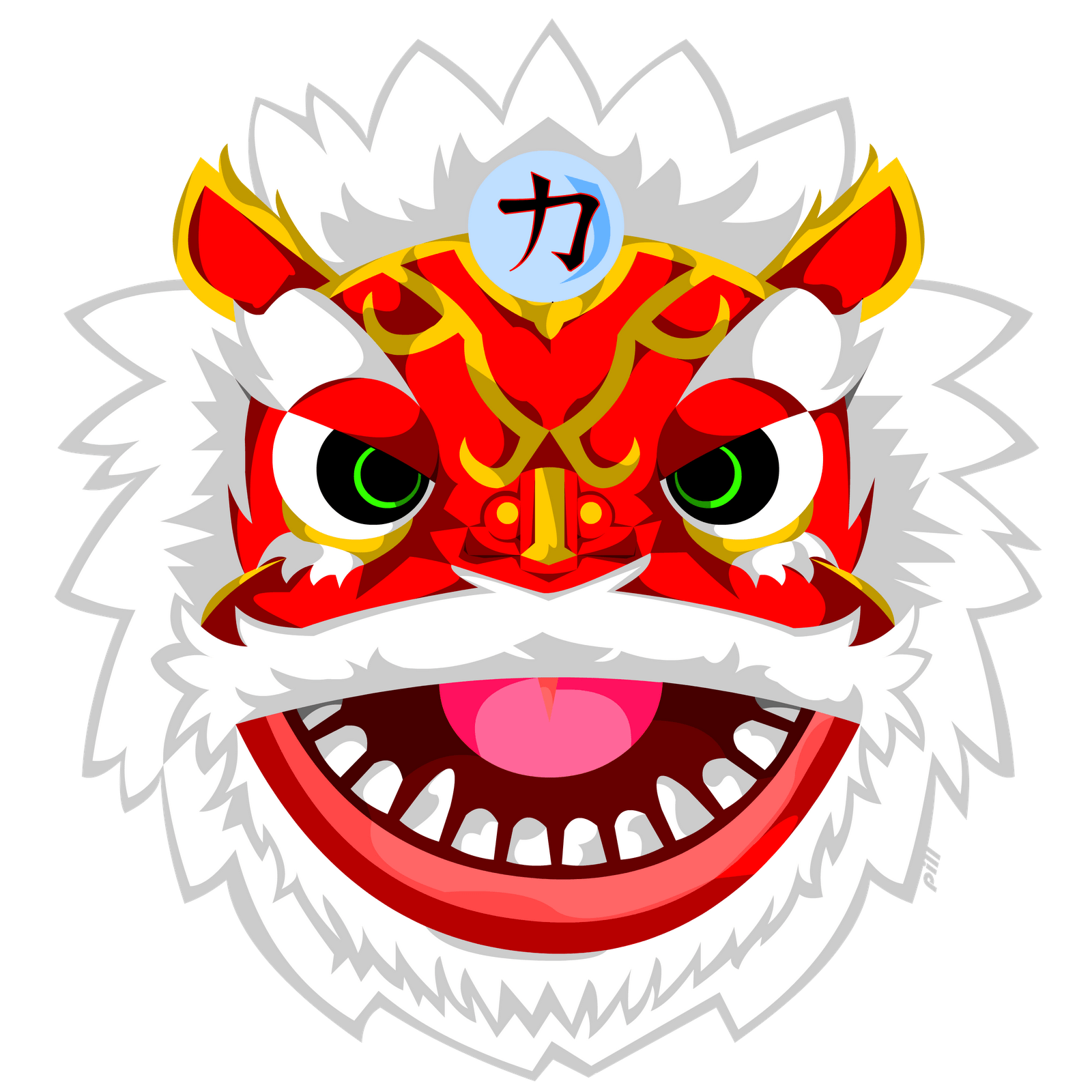 Chinese Dragon Faces