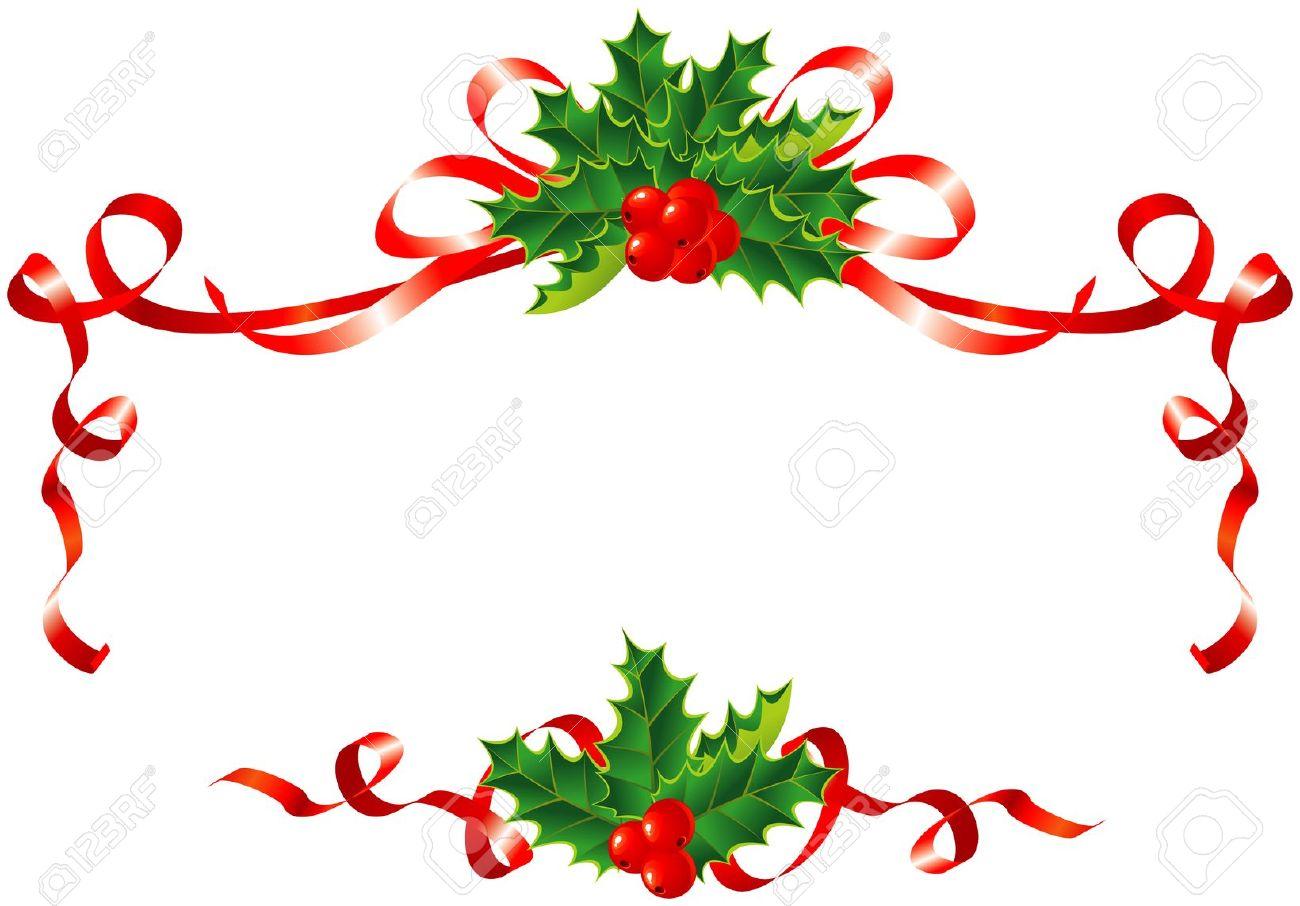 Christmas Ribbon Border