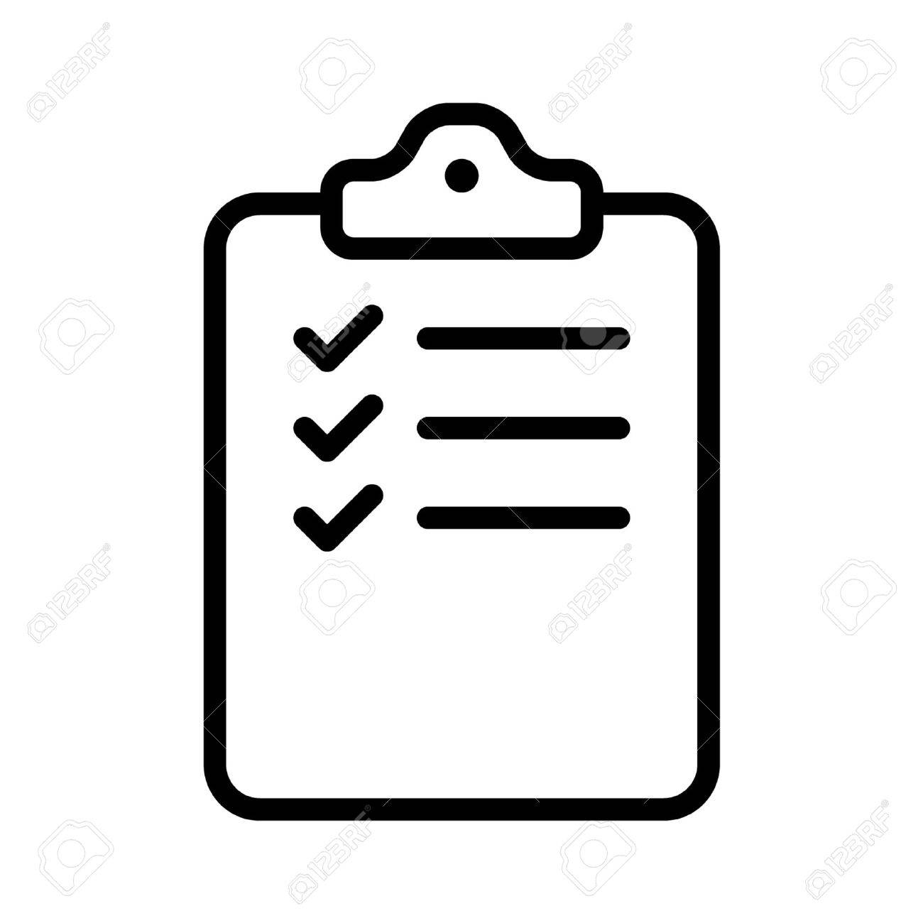 Collection Of Checklist Clipart