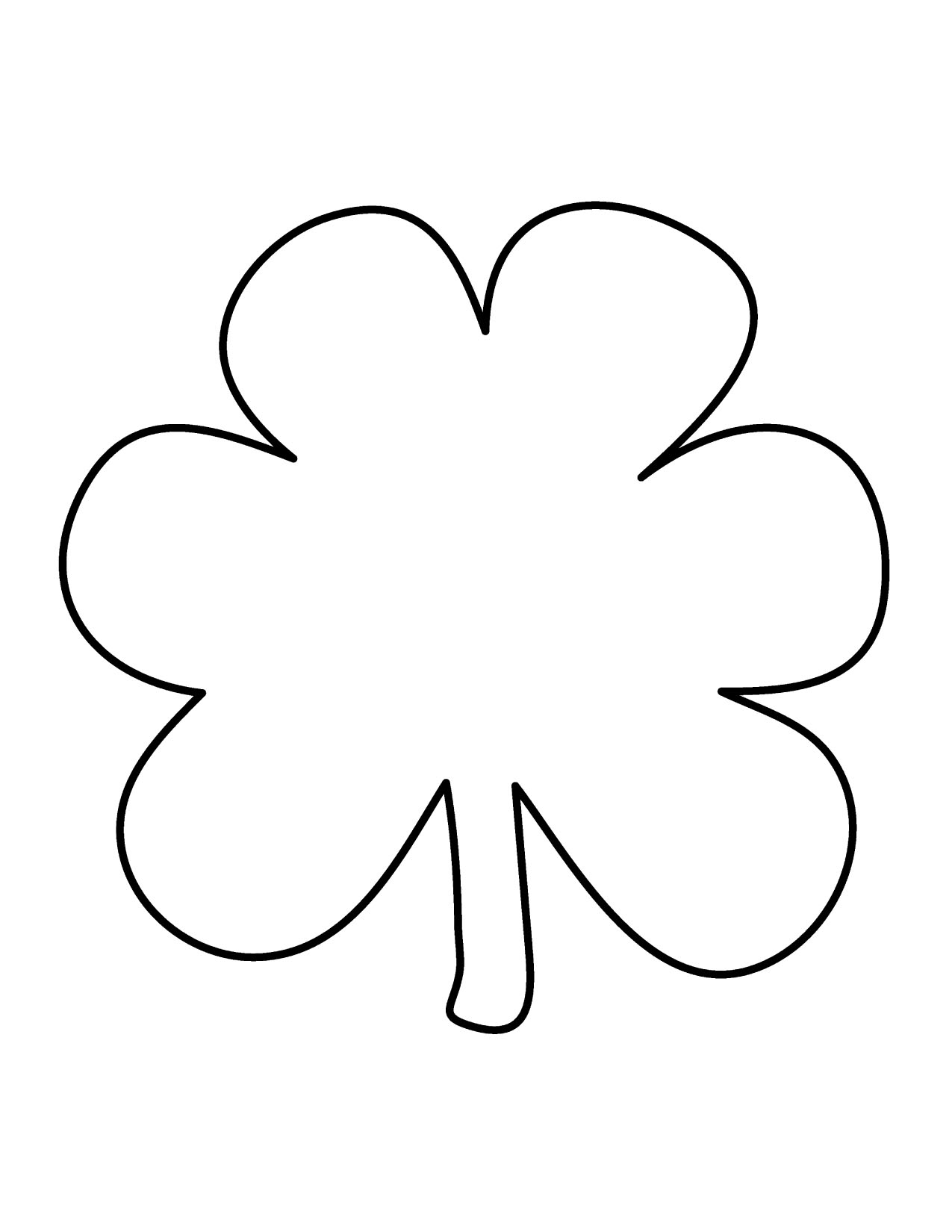 Clover Clipart Black And White