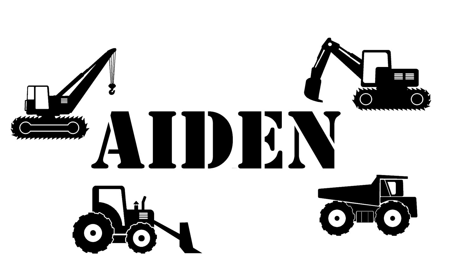 Construction Vehicles Names Clipart