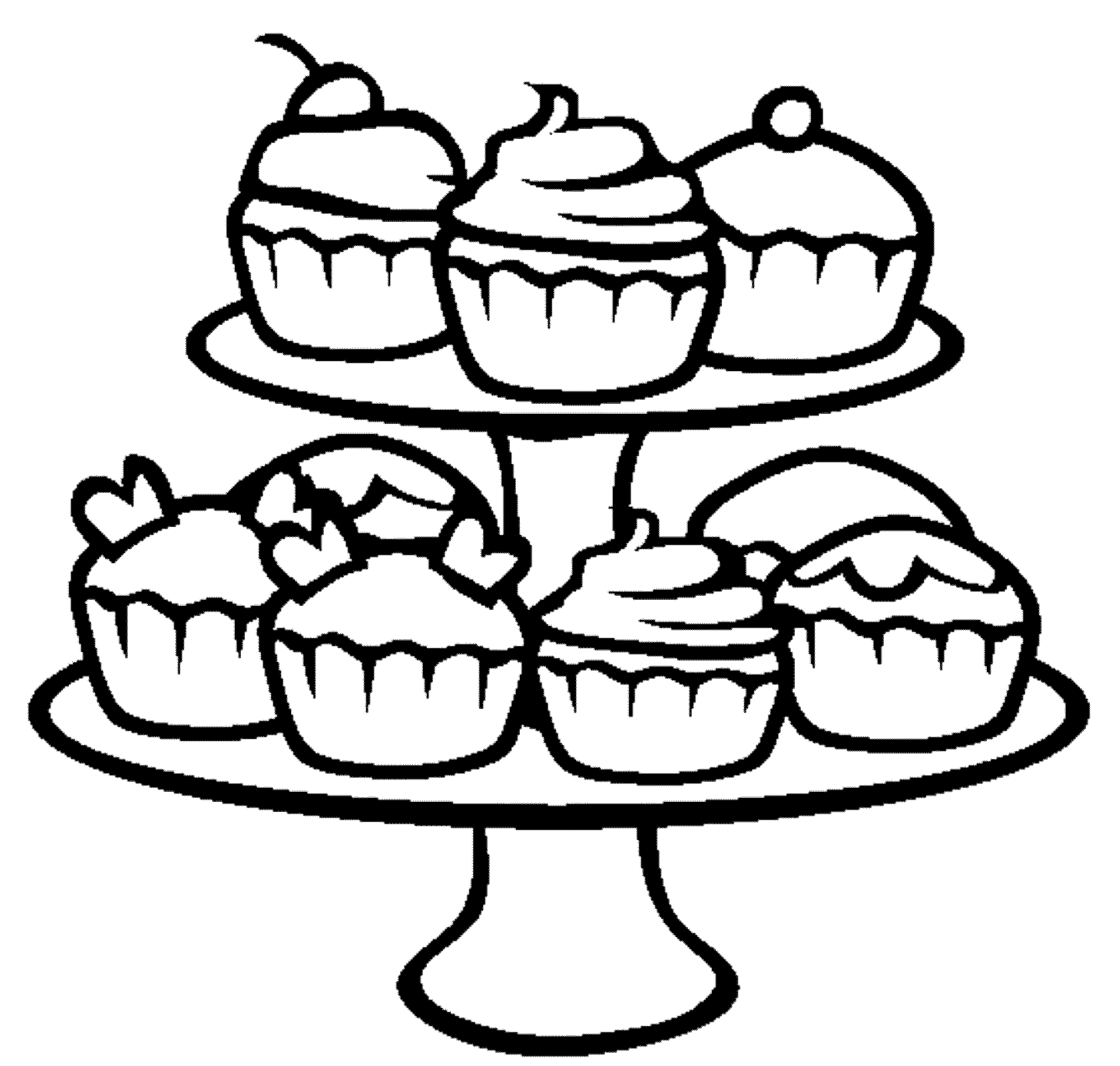 Cupcake Clipart Black And White