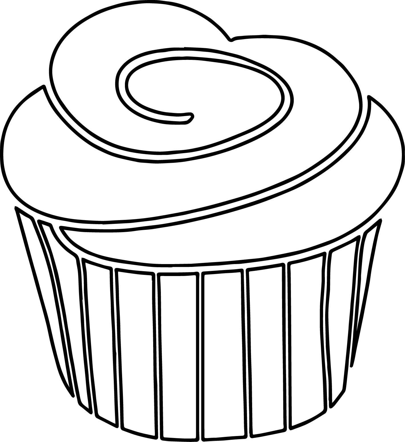 Cupcake Outline