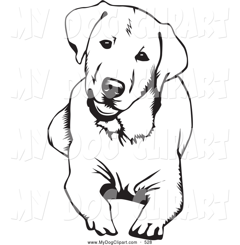 Dog Clipart Free Black And White
