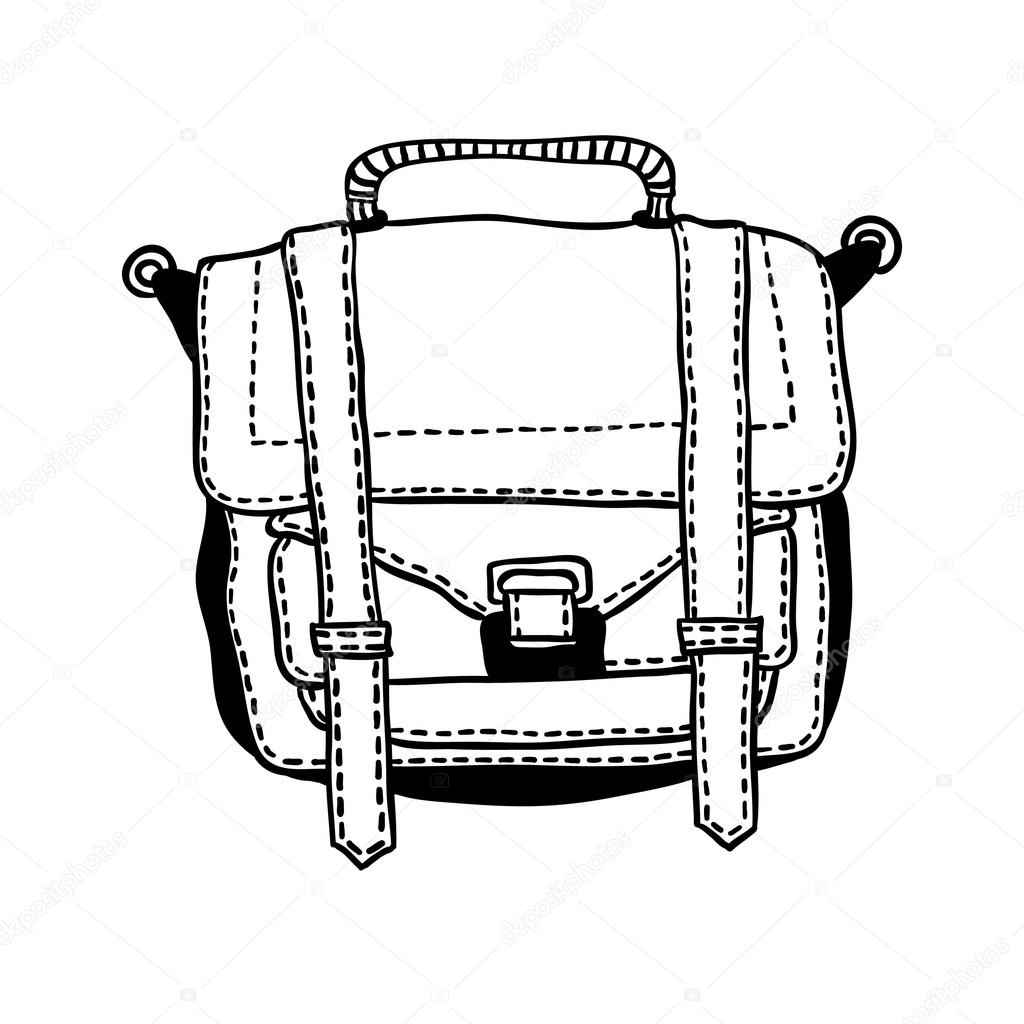 Drawing Of A Backpack