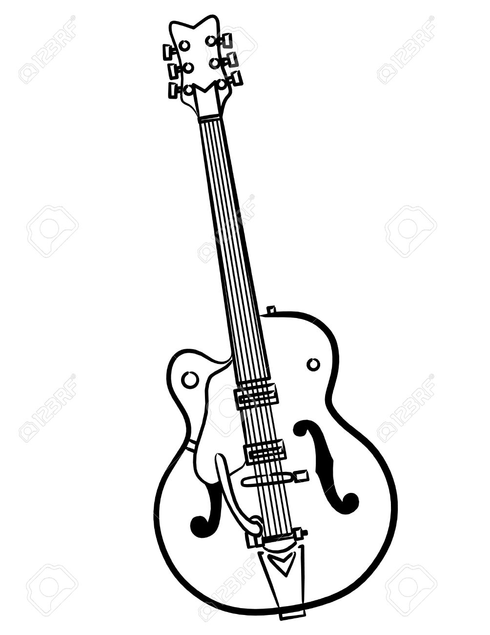 Electric guitar outline free download best electric guitar