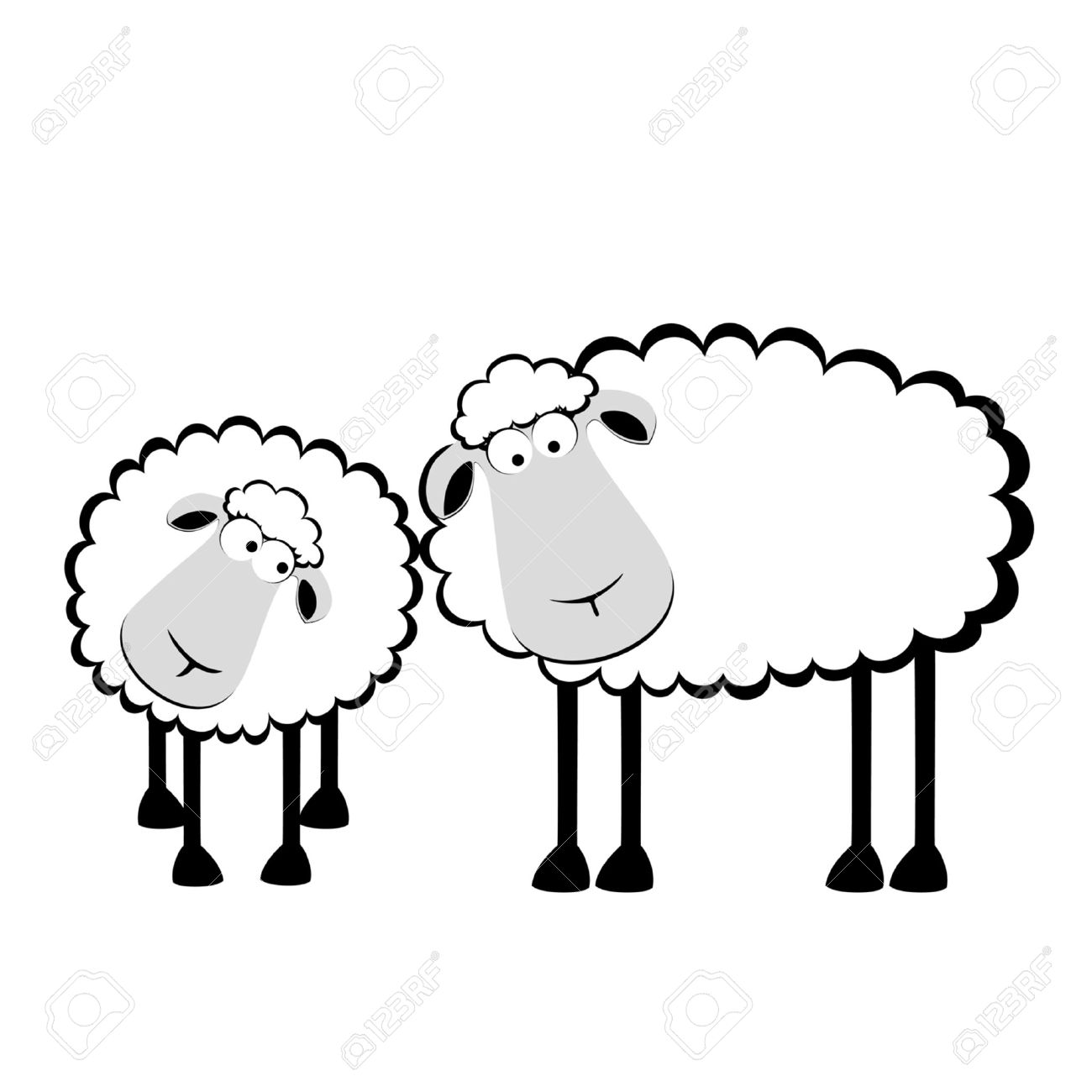 Flock Of Sheep Clipart