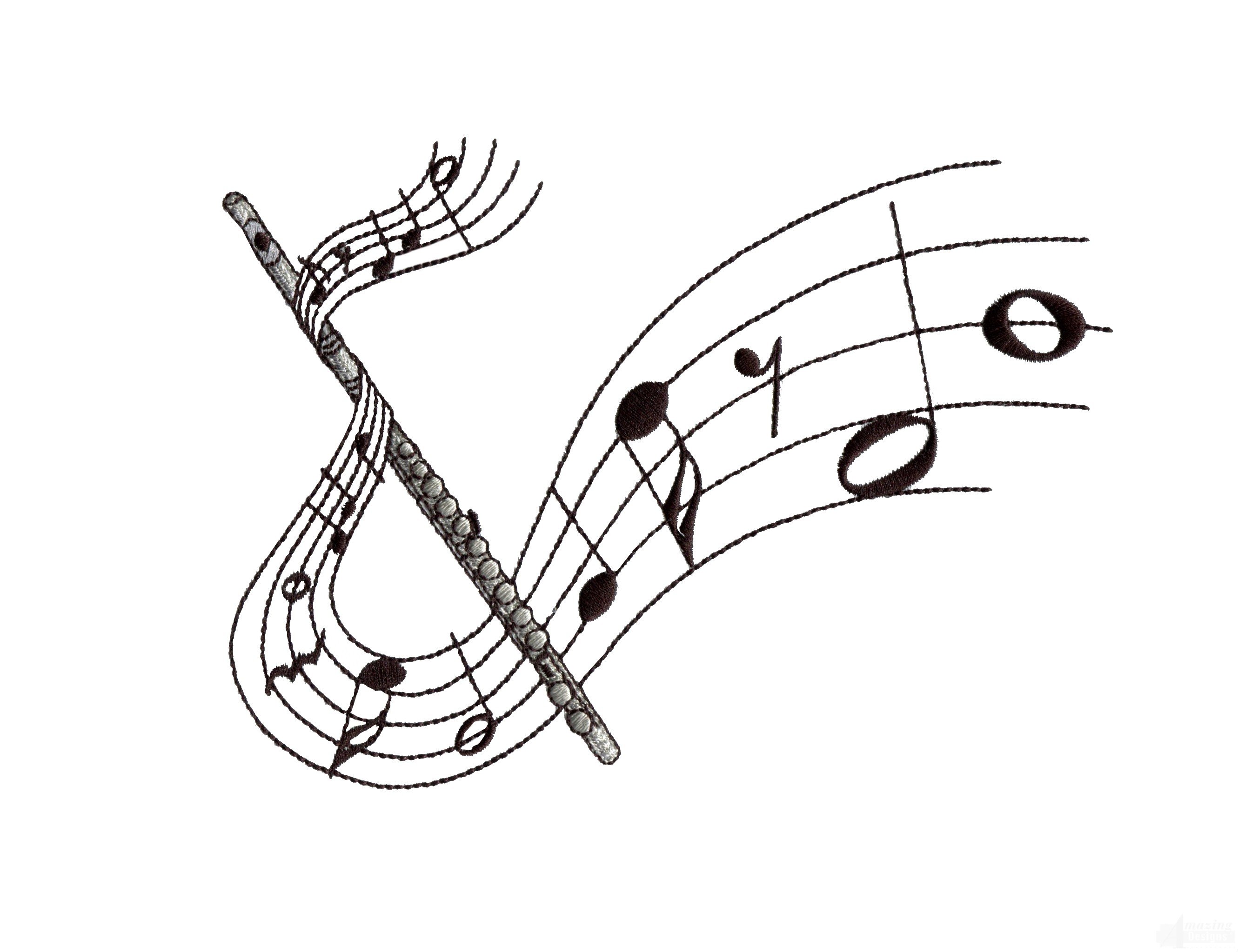 flute clipart free - HD2661×2047