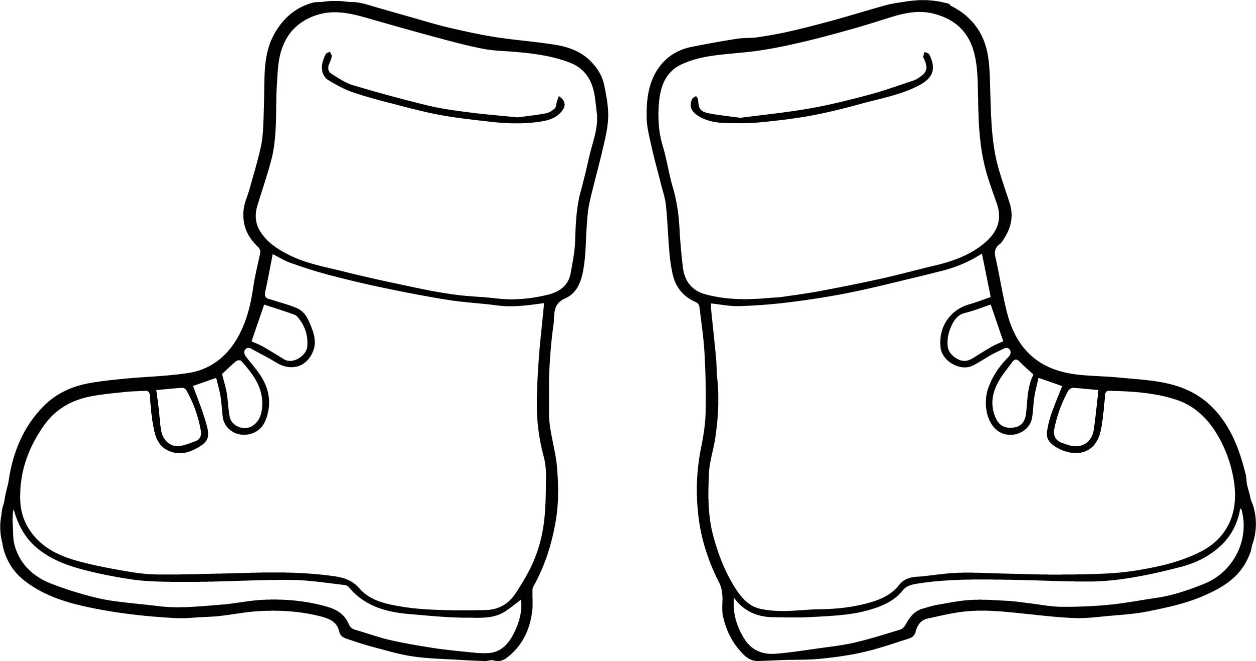 Foot Coloring Page Clipart