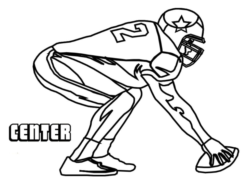 Football Player Outline