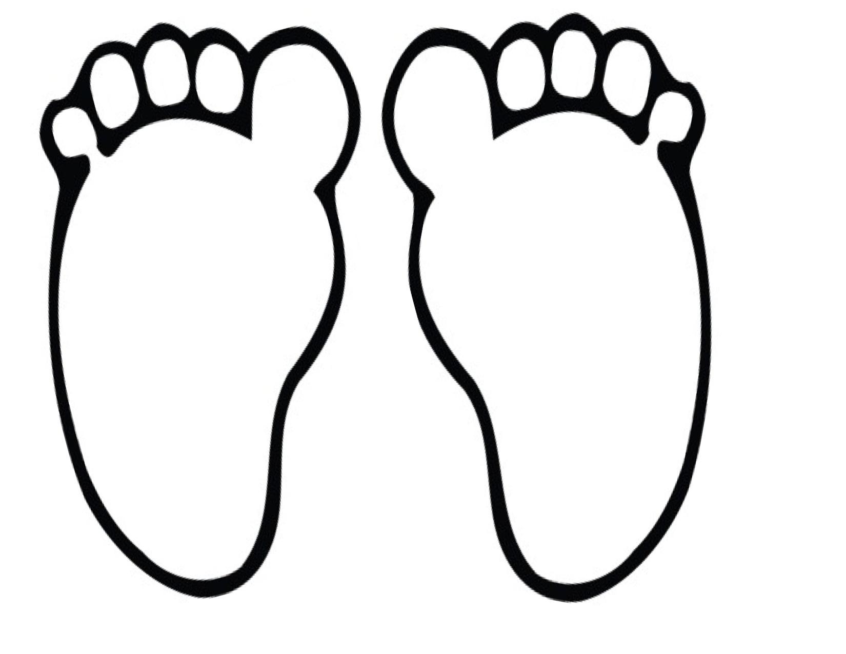 Footprint Template Clipart