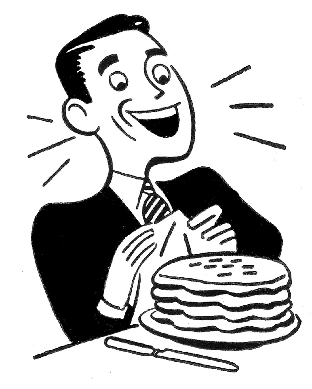 Free Clipart Pancake Breakfast