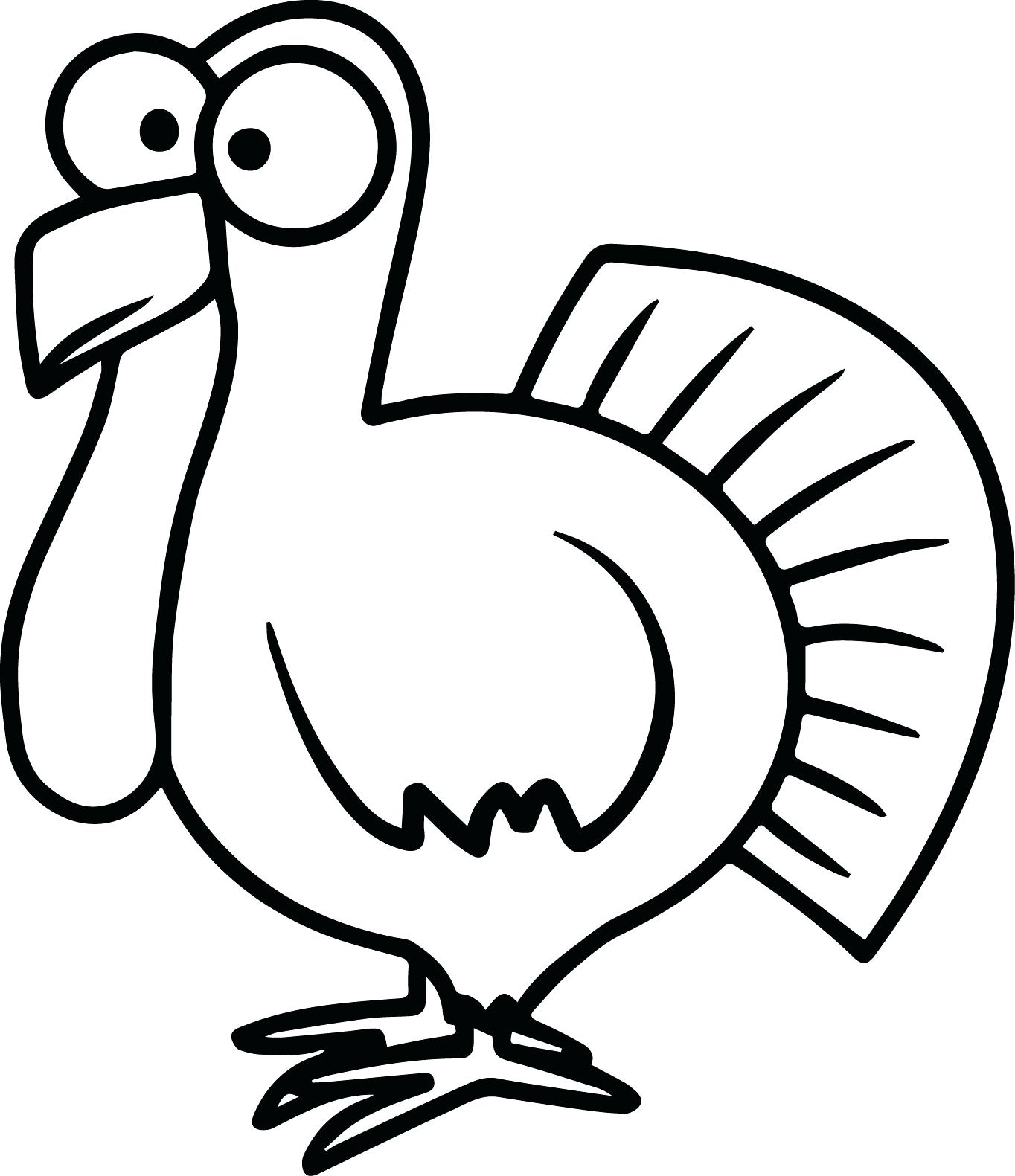 Free Turkey Clipart Black And White