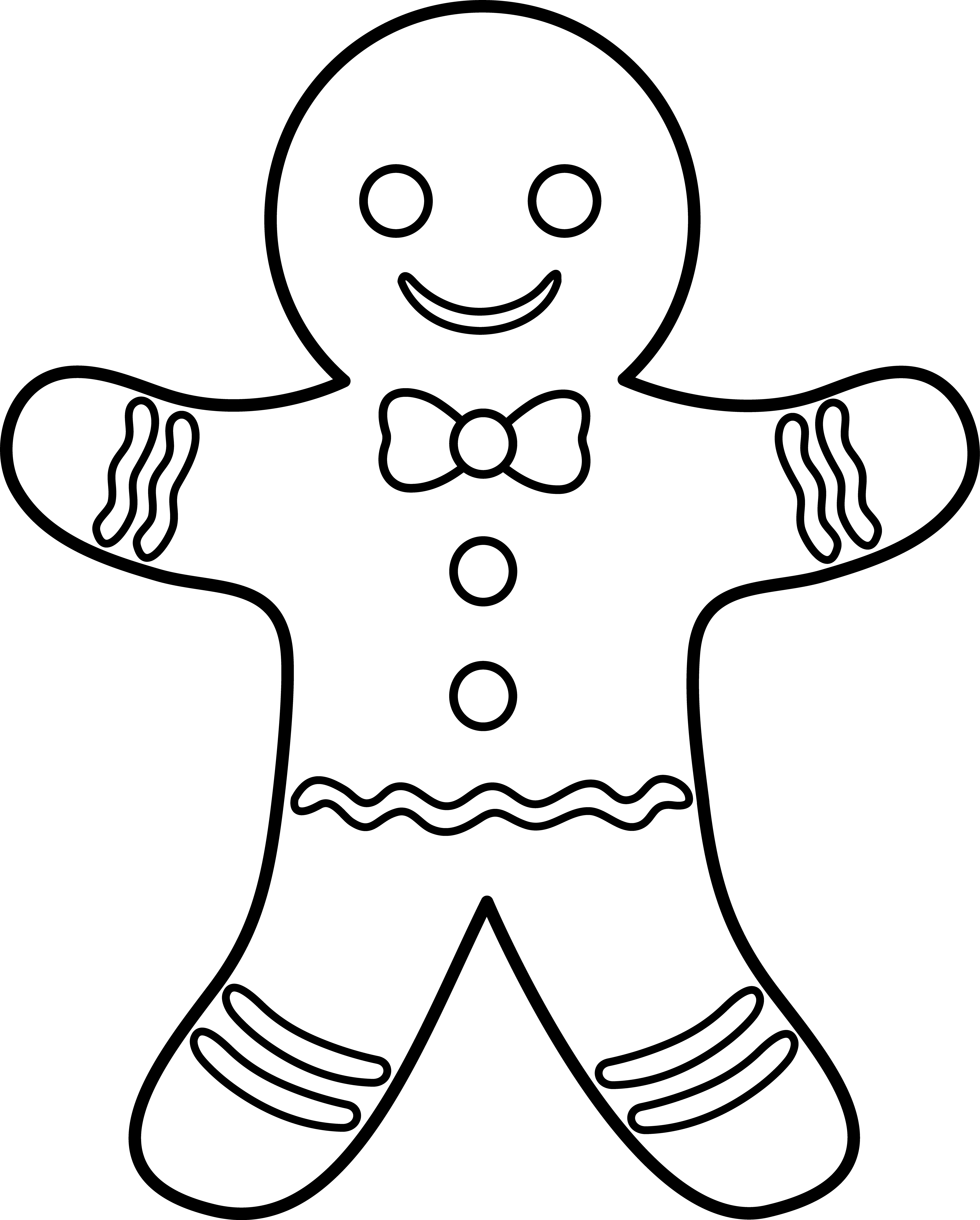 Ginger Bread Man Outline