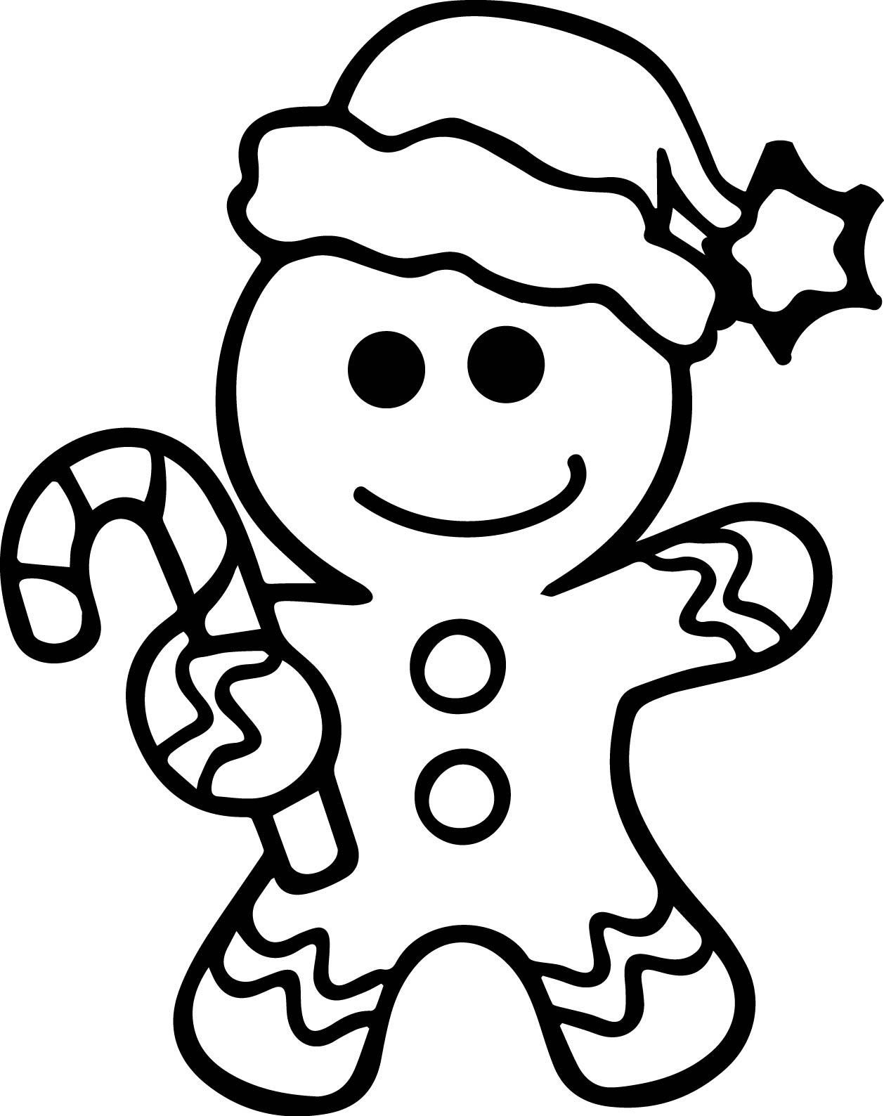 Gingerbread Man Ornament Template Worksheet