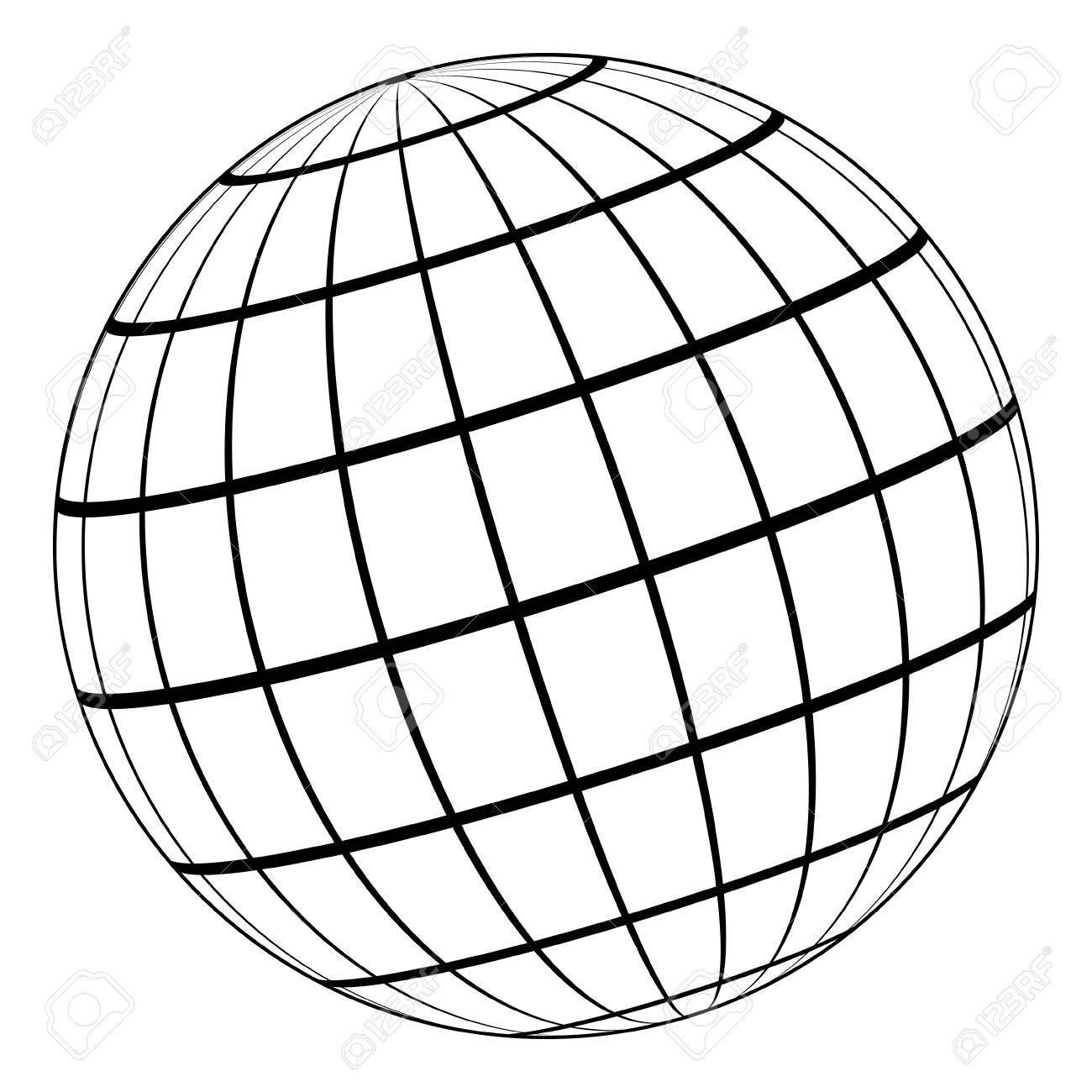 Globe Line Art
