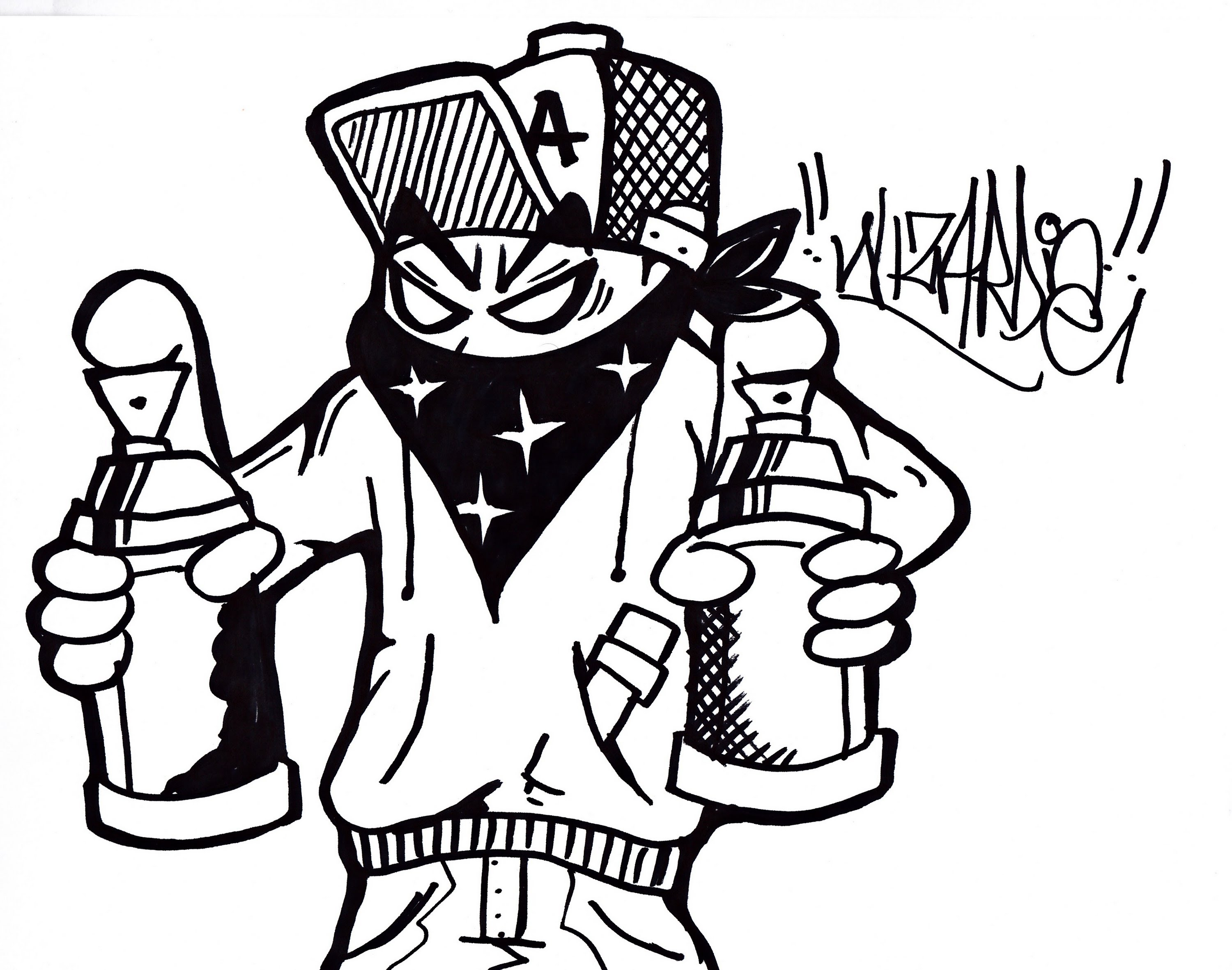 Graffiti Characters Spray Can Clipart
