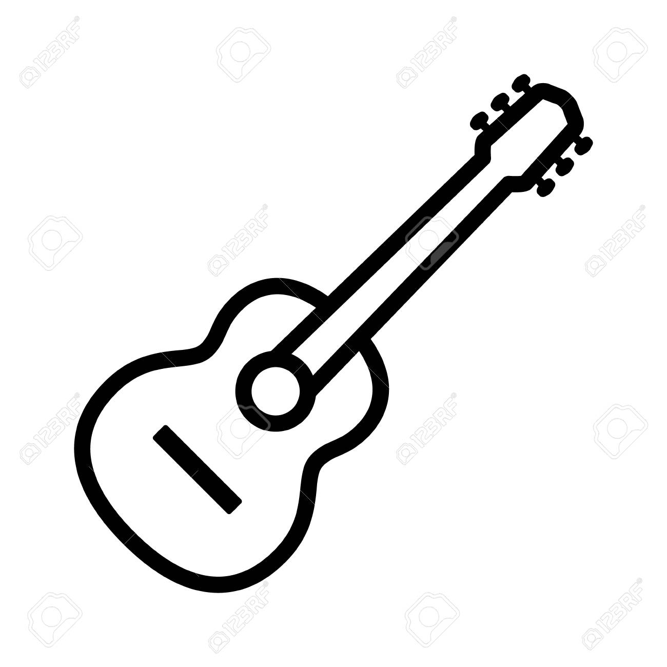 Guitar Line Art