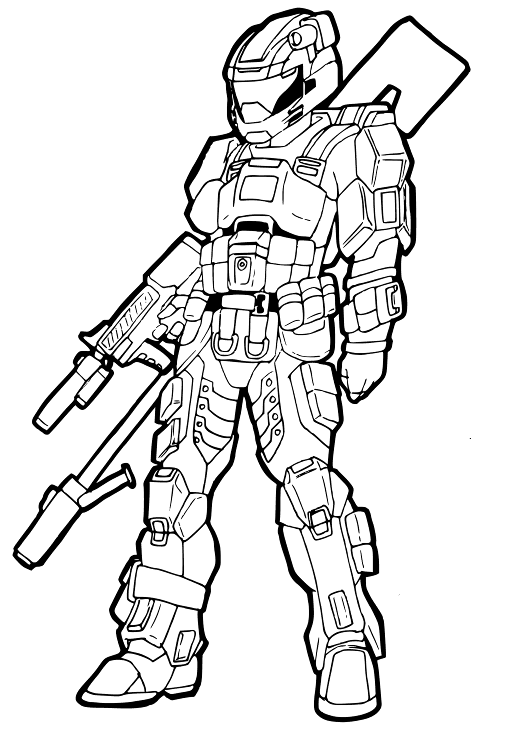 Halo 5 Coloring Pages