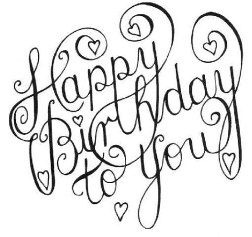 Happy Birthday Bubble Letters Black And White