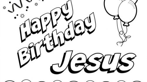 happy birthday jesus coloring page # 54