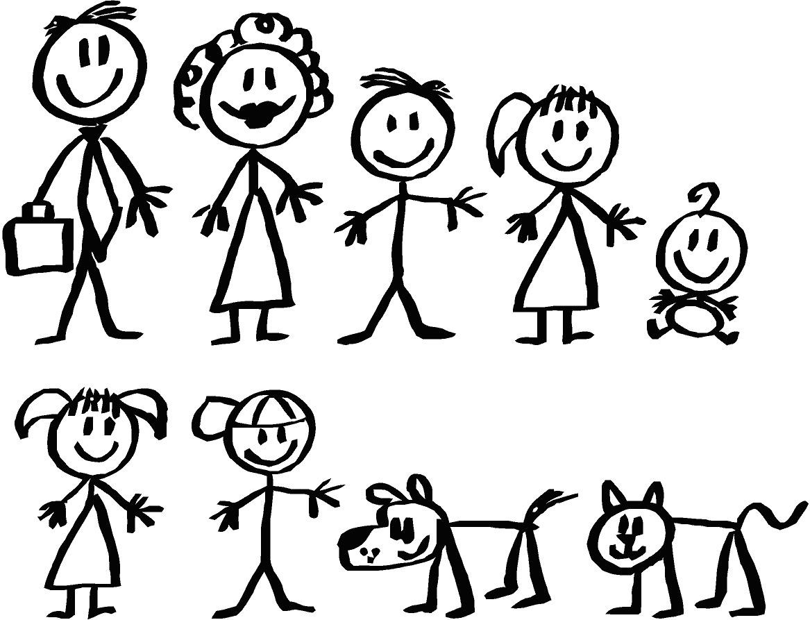 How To Draw A Stick Figure Dog