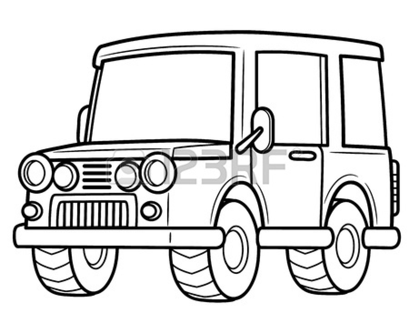 Ice Cream Truck Clipart Black And White