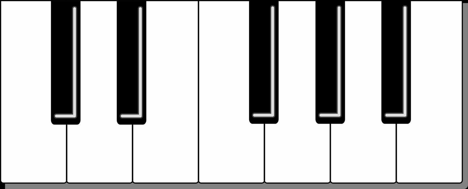 Keyboard Clipart Black And White